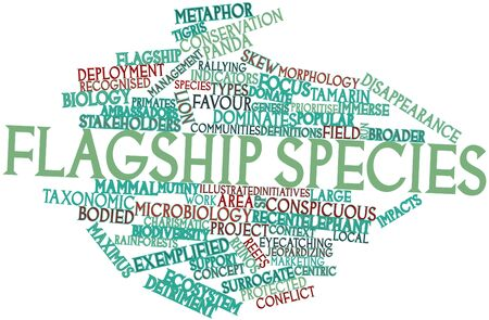 jeopardizing: Abstract word cloud for Flagship species with related tags and terms