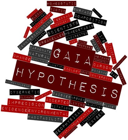 Abstract word cloud for Gaia hypothesis with related tags and terms