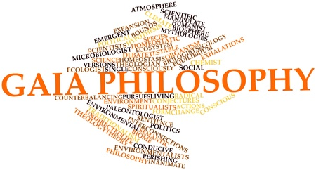 inanimate: Abstract word cloud for Gaia philosophy with related tags and terms
