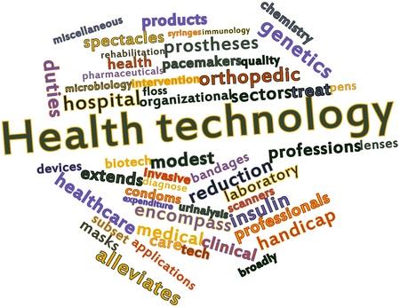 urinalysis: Word cloud astratto per la tecnologia Salute con tag correlati e termini