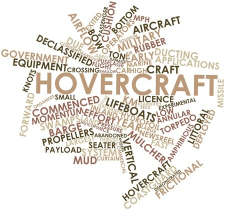 Abstract word cloud for Hovercraft with related tags and terms photo
