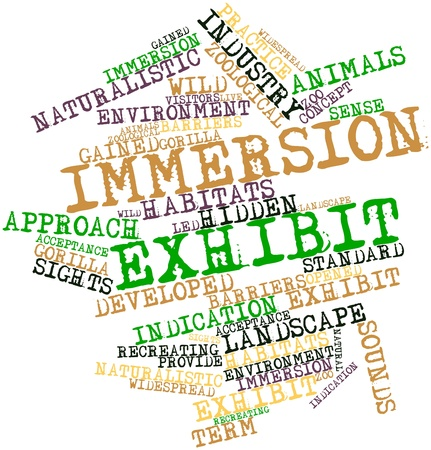 immersion: Abstract word cloud for Immersion exhibit with related tags and terms