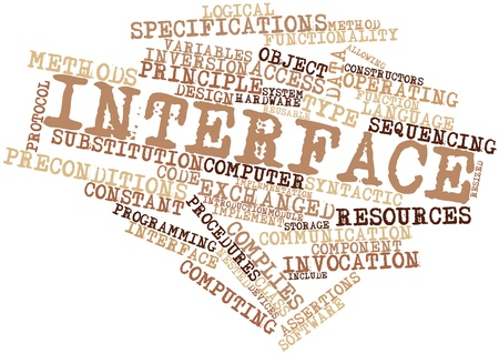 Abstract word cloud for Interface with related tags and terms Stock Photo - 16498555