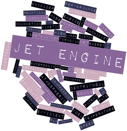 powerplants: Abstract word cloud for Jet engine with related tags and terms