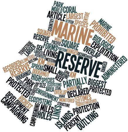 campaigning: Abstract word cloud for Marine reserve with related tags and terms