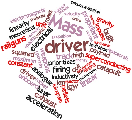 linearly: Abstract word cloud for Mass driver with related tags and terms