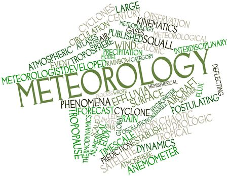 force of the wind: Abstract word cloud for Meteorology with related tags and terms