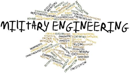 Abstract word cloud for Military engineering with related tags and terms Stock Photo - 16498339