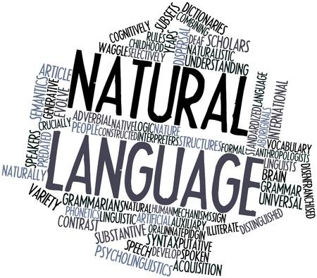 comunicacion oral: Nube palabra abstracta del lenguaje natural con etiquetas y términos relacionados