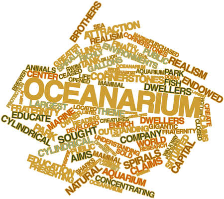 Abstract word cloud for Oceanarium with related tags and terms Stock Photo - 16499093