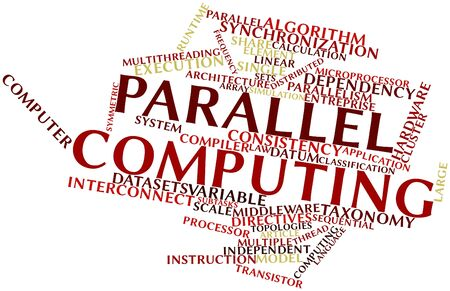 snooping: Abstract word cloud for Parallel computing with related tags and terms Stock Photo