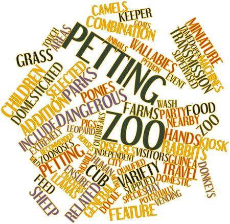 Abstracte woord wolk voor Kinderboerderij met gerelateerde tags en termen