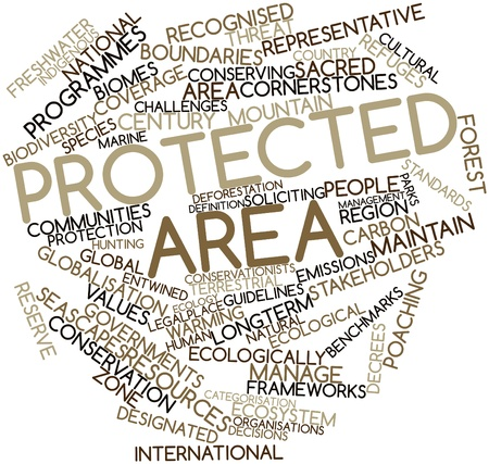 forest management: Abstract word cloud for Protected area with related tags and terms