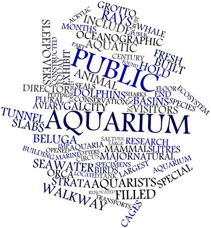 Abstract word cloud for Public aquarium with related tags and terms Stock Photo - 16498839