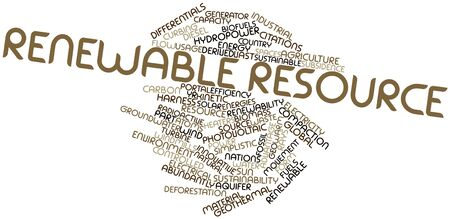Abstract word cloud for Renewable resource with related tags and terms Stock Photo - 16498311