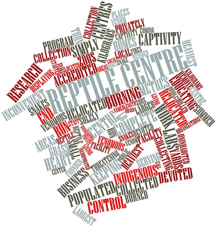 Abstract word cloud for Reptile centre with related tags and terms photo