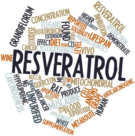 ineffective: Abstract word cloud for Resveratrol with related tags and terms