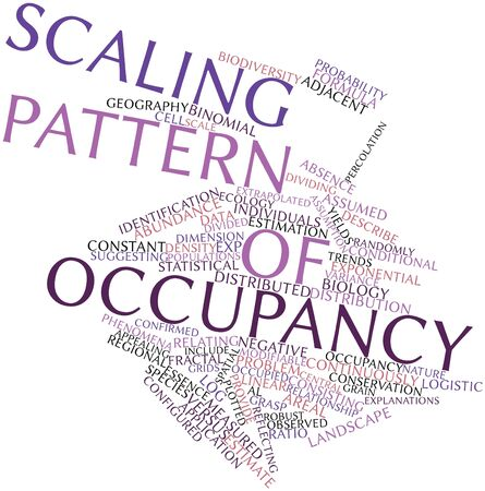 Abstract word cloud for Scaling pattern of occupancy with related tags and terms Stock Photo - 16498598