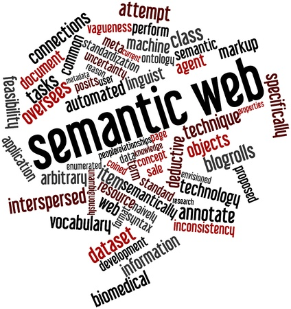 Abstract word cloud for Semantic Web with related tags and terms photo