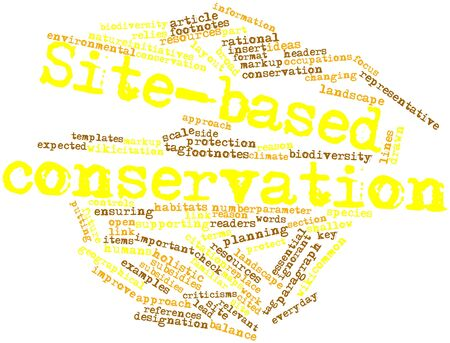 Abstract word cloud for Site-based conservation with related tags and terms photo