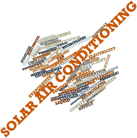 convective: Abstract word cloud for Solar air conditioning with related tags and terms