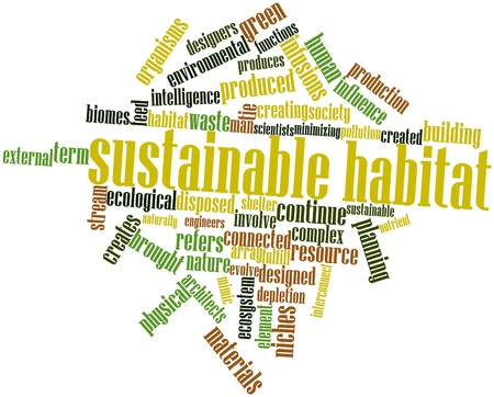 mimic: Abstract word cloud for Sustainable habitat with related tags and terms