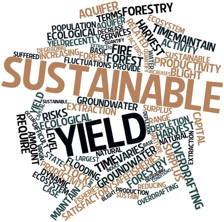 groundwater: Abstract word cloud for Sustainable yield with related tags and terms