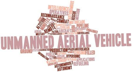 commonality: Abstract word cloud for Unmanned aerial vehicle with related tags and terms Stock Photo