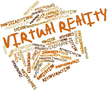 Abstract word cloud for Virtual reality with related tags and terms Stock Photo - 16498753