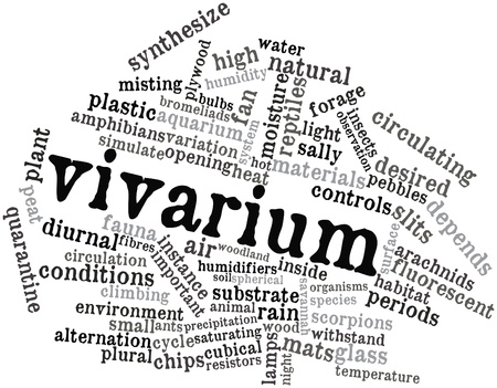 synthesize: Abstract word cloud for Vivarium with related tags and terms
