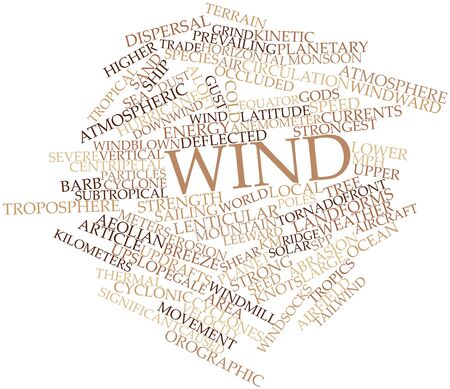 easterly: Abstract word cloud for Wind with related tags and terms Stock Photo