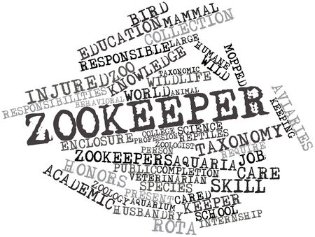 Abstract word cloud for Zookeeper with related tags and terms Stock Photo - 16498498