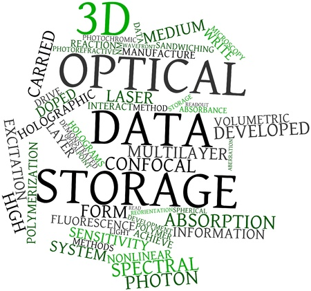 Abstract word cloud for 3D optical data storage with related tags and terms Stock Photo - 16499789