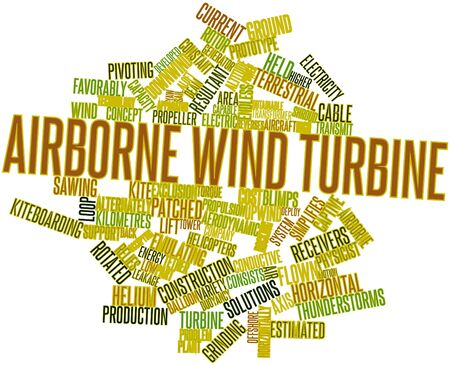 flown: Abstract word cloud for Airborne wind turbine with related tags and terms