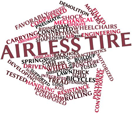Abstract word cloud for Airless tire with related tags and terms Stock Photo - 16500486