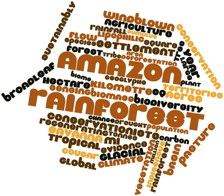 easterly: Abstract word cloud for Amazon rainforest with related tags and terms