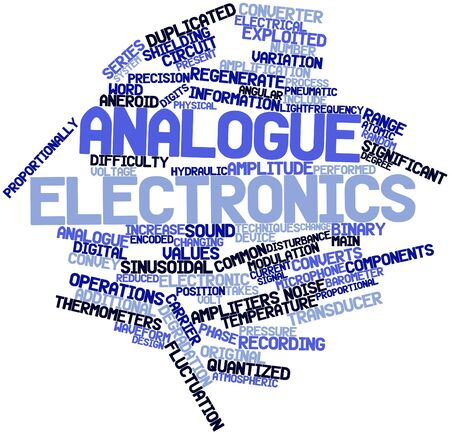sinusoidal: Abstract word cloud for Analogue electronics with related tags and terms