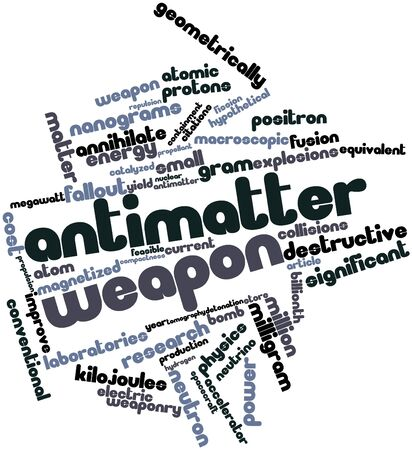 collisions: Abstract word cloud for Antimatter weapon with related tags and terms