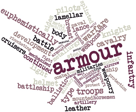 Abstract word cloud for Armour with related tags and terms Stock Photo - 16499599