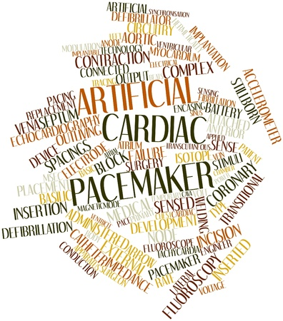 Abstract word cloud for Artificial cardiac pacemaker with related tags and terms Stock Photo - 16500849