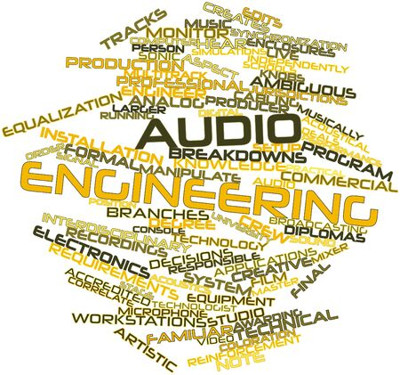 genres: Abstract word cloud for Audio engineering with related tags and terms
