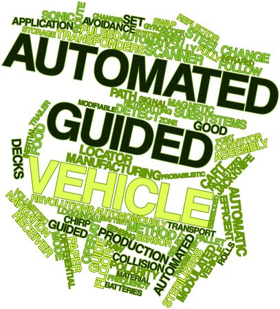 Abstract word cloud for Automated guided vehicle with related tags and terms