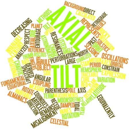 axial: Abstract word cloud for Axial tilt with related tags and terms Stock Photo
