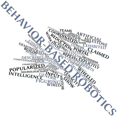 lighthearted: Abstract word cloud for Behavior-based robotics with related tags and terms