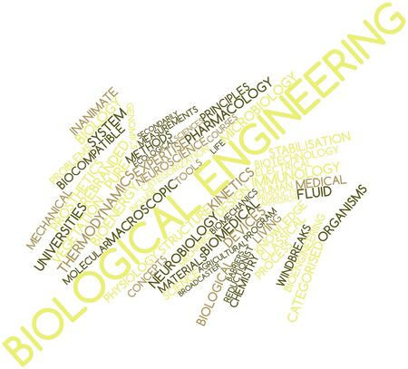 inanimate: Abstract word cloud for Biological engineering with related tags and terms