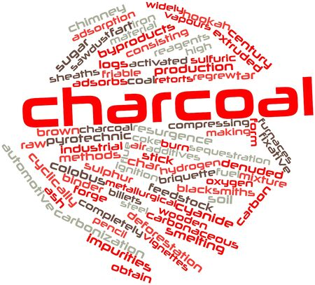 feedstock: Abstract word cloud for Charcoal with related tags and terms
