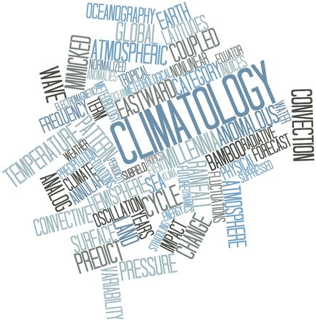Abstract word cloud for Climatology with related tags and terms Banco de Imagens