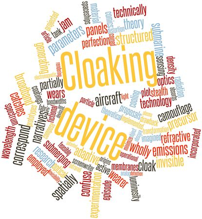 episode: Abstract word cloud for Cloaking device with related tags and terms