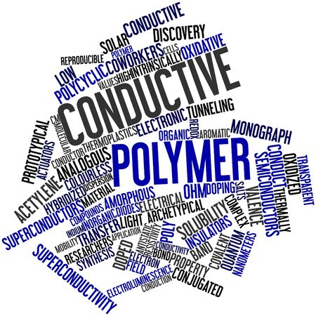 oxidative: Abstract word cloud for Conductive polymer with related tags and terms Stock Photo