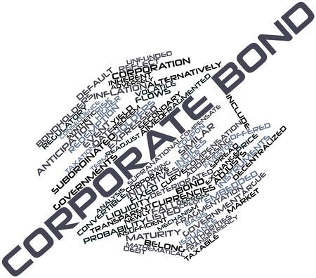 decentralized: Abstract word cloud for Corporate bond with related tags and terms Stock Photo